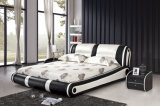 침실 가구를 위한 호화스러운 가구 두 배 가죽 침대
