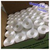 Bobine 100% Polyester Blanc Bobine Pre-Blindage pour Couture 75D