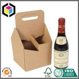 Contenitore di vino del documento del cartone ondulato dei 6 pacchetti con l'elemento portante