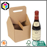 750ml Wine 6 Pack Corrugated Cardboard Carrier Box