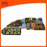 O campo de jogos plástico do brinquedo das crianças de Mich caçoa o campo de jogos