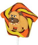 子供のための家キャンデーを持つ3D犬