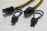 PCI 6+2 Pin (6pin/8pin) 18二倍になる明白な力のディバイダーケーブル6 Pin AWG