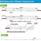 10mm het Super Heldere 5050 RGB LEIDENE van de Breedte 12V Licht van de Strook
