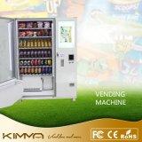 Grande máquina de Vending da tela de toque com bebidas do esporte do Vending do leitor de cartão