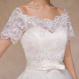 outre du châle court en ivoire de jupe de mariage de chemise de Sequin d'épaule