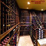 Rek van de Vertoning van de Wijn van het Kabinet van de Wijn van het Meubilair van het huis het Houten Houten (GSP9-047)