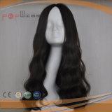 고동색 색깔 Virgin Remy 머리 백색 매끄러운 피부 상단 기술 유태인 정결한 가발