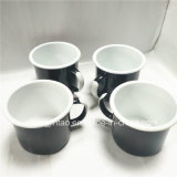 [كيتشنور] مينا إبريق قصدير فنجان يخيّم أبيض مقبض طباعة