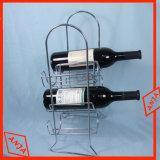 Mobilia della cremagliera del vino del banco di mostra del vino del collegare della bottiglia del metallo