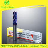 Molino de extremo sólido del carburo del molino de extremo del carburo de tungsteno