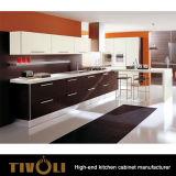 Gli armadi da cucina neri lucidi con progettano Tivo-0713V per il cliente