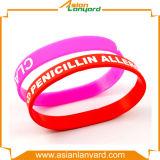 Wristband por atacado personalizado do silicone da forma