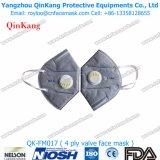 Plastikmit/ohne Schablonen-Falten-flache Respiratoren des Ventil-Ffp1 Ffp2 Ffp3