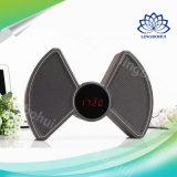 Alto-falante portátil multimídia com multifunções (banco de energia + U disco + relógio + alarme)
