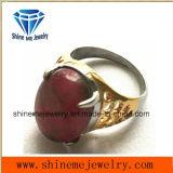 Anillo de bastidor plateado oro rojo de la joyería de la carrocería de la piedra de la manera