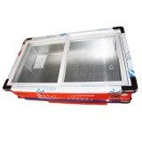 Congelador do Showcase da carne do marisco da porta de vidro de deslizamento