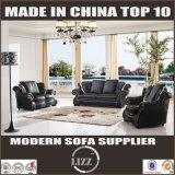 Il sofà del cuoio di legno solido della mobilia della casa di stile dell'Europa ha impostato 123