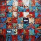 Абстрактная картина маслом с тяжелой текстурой