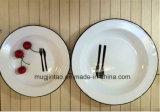 사기질 0.5mm를 위한 백색 접시 과일 격판덮개 간격을 인쇄하는 로고 22cm