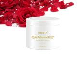 Pecho natural seguro orgánico certificado que blanquea la crema con la muestra libre