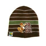 Chapeau tricoté par impression offset rayée (JRK003)