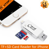 Lecteur de carte Microsd + SD OTG pour iPhone Flash USB Flash Drive (YT-R007)