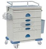 AG-At018 con cinco cajones Carro de enfermería móvil