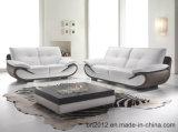 Sofá moderno do couro da parte superior da mobília (S-3201)