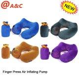 Nueva alta calidad de la cintura soporte inflable dedo presionar la almohadilla del cuello