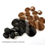 Menschenhaar Ombre des Grad-7A spinnende blonde Farben-indische Haar-Webart