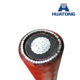 Средств куртка HDPE напряжения тока 15kv 336.4mcm ACSR изолированная XLPE - UV кабель