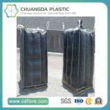 Preto FIBC Ton Jumbo Container Big Bag com Interior do Defletor