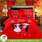 Insieme nuziale dell'assestamento di cerimonia nuziale rossa cinese di abitudine 4PCS