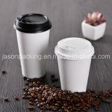 Устранимый горячий кофеий бумажного стаканчика питья с крышками