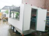 sul carrello mobile dell'alimento di vendita, camion elettrico degli alimenti a rapida preparazione