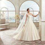 Il nuovo arrivo Tulle Sleeveless Appliques A - la riga Vestido De Noiva Dress