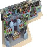 Matériel neuf de cour de jeu de nouveauté de configuration de dessin animé d'arrivée pour d'intérieur
