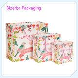 Bolso de empaquetado de arte de la joyería colorida del papel