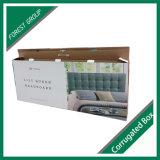 운반대 손잡이를 가진 재상할 수 있는 물결 모양 침대 머리 수송용 포장 상자