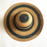 نمو كبيرة نساء فصل صيف قبعة [سون] يوسع حافة ورقة [سترو هت] مع شريط مستديرة ([هو06])