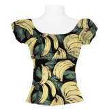 Le plus récent Design Banana Fruit Printed Woman Short Tops Sexy Hawaiian Shirts