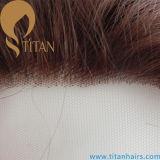 Закрытие индийского шнурка человеческих волос прифронтовое для шикарных женственных женщин
