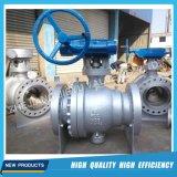 Válvula de esfera industrial da flutuação do aço inoxidável da flange do gás do API