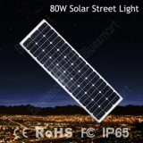 Bluesmart integrierte 80W LED Solarstraßenlaternemit Batterie-Sonnenkollektor