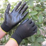 13G Polysterのニトリルは手袋NBRの手袋の安全作業手袋に塗った