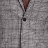 2016 spätestes Wolle-klassisches graues Plaid-beiläufige Blazer mit Krümmer-Änderung am Objektprogramm