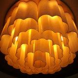 B60-623 chauffent la lampe pendante acrylique jaune de plafond de Scoure