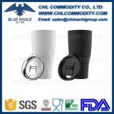 Tumbler do aço inoxidável do pedido da garantia do comércio livre de BPA com punho do colhedor