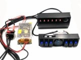 Jeep Wrangler Jk 6-Switch Panel com controle e sistema de fonte Relay Box Assemblies para Jeep Jk & Jku 07 - 17